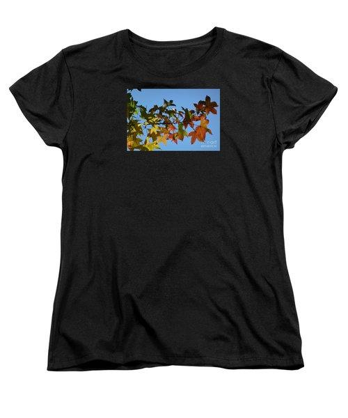 Women's T-Shirt (Standard Cut) featuring the photograph Autumn Leaves by Jean Bernard Roussilhe