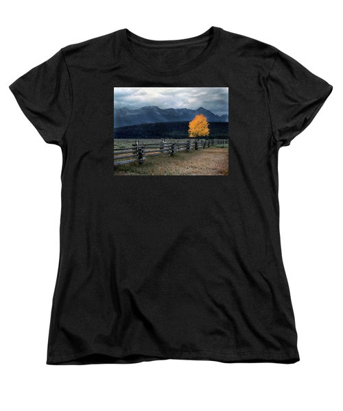 Autumn Light Women's T-Shirt (Standard Cut) by Leland D Howard