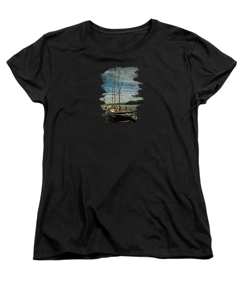 Cape Foulweather Tall Ship Women's T-Shirt (Standard Cut) by Thom Zehrfeld