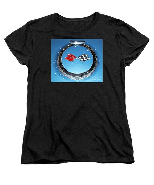 Chevy Corvette Women's T-Shirt (Standard Cut) by Pamela Walrath