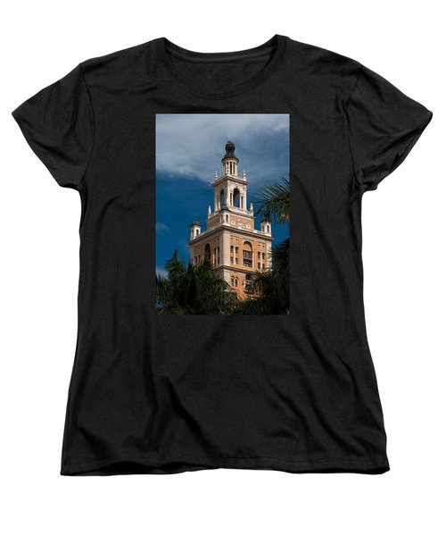 Women's T-Shirt (Standard Cut) featuring the photograph Coral Gables Biltmore Hotel Tower by Ed Gleichman