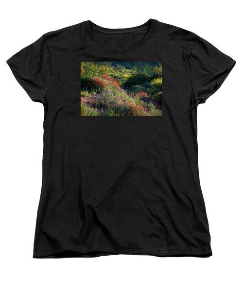 Women's T-Shirt (Standard Cut) featuring the photograph Desert Wildflowers  by Saija Lehtonen