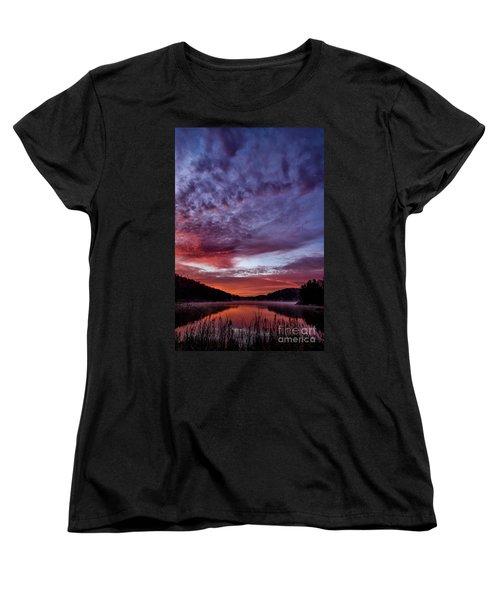 First Light On The Lake Women's T-Shirt (Standard Cut) by Thomas R Fletcher
