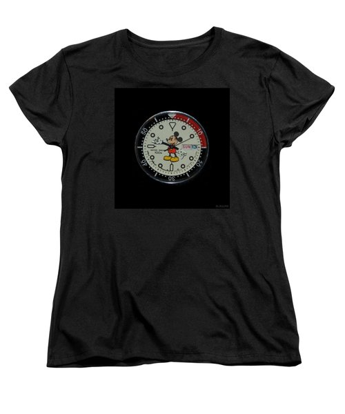 Mickey Mouse Watch Face Women's T-Shirt (Standard Cut)
