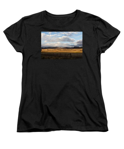 Mountain Meadow And Hay Bales In Grand County Women's T-Shirt (Standard Cut) by Carol M Highsmith