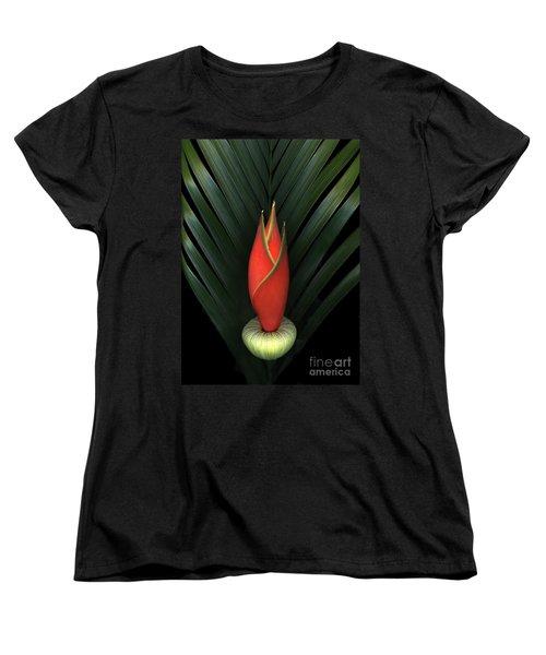 Palm Of Fire Women's T-Shirt (Standard Cut) by Christian Slanec