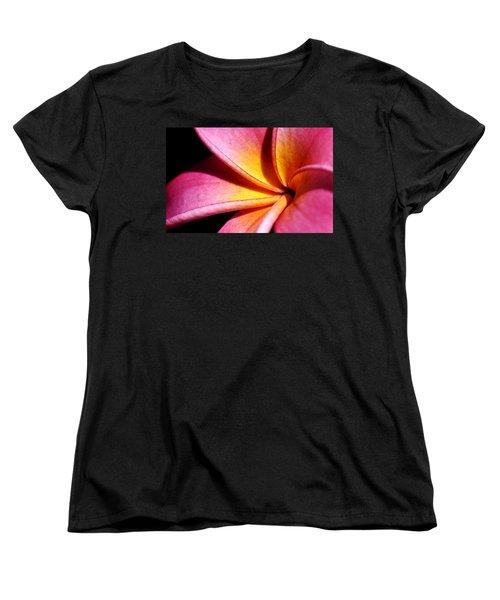 Plumeria Flower Women's T-Shirt (Standard Cut) by Werner Lehmann