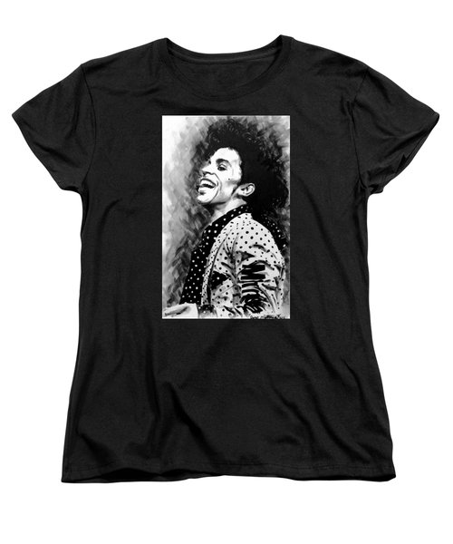 Women's T-Shirt (Standard Cut) featuring the painting Prince by Darryl Matthews