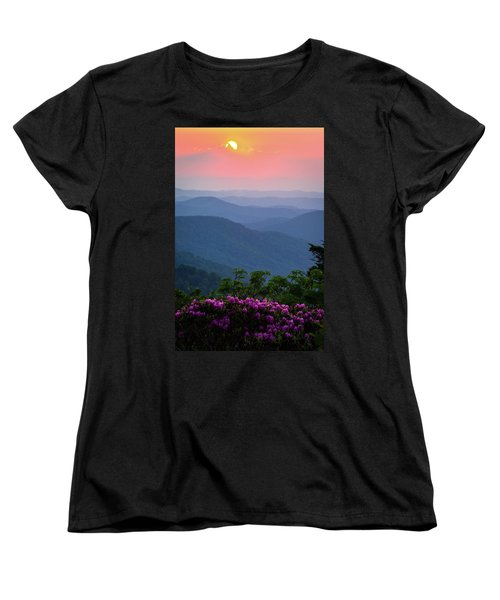 Roan Mountain Sunset Women's T-Shirt (Standard Cut) by Serge Skiba