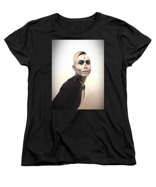 Skull And Tux Women's T-Shirt (Standard Cut) by Kent Chua