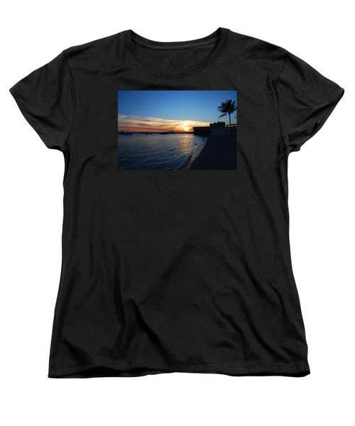 Women's T-Shirt (Standard Cut) featuring the photograph 2- Sunset In Paradise by Joseph Keane