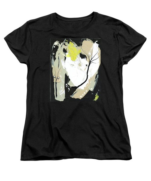 Women's T-Shirt (Standard Cut) featuring the painting Three Color Palette by Michal Mitak Mahgerefteh