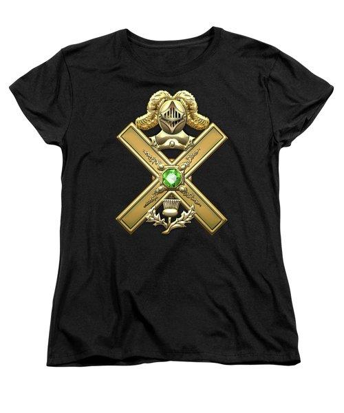 29th Degree Mason - Scottish Knight Of Saint Andrew Masonic Jewel  Women's T-Shirt (Standard Cut) by Serge Averbukh