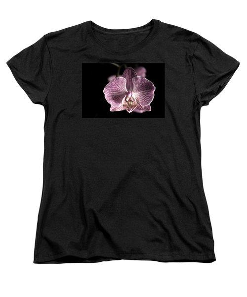 Close Up Shoot Of A Beautiful Orchid Blossom Women's T-Shirt (Standard Cut) by Ulrich Schade
