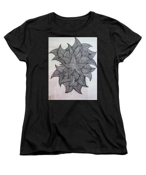 3 D Sketch Women's T-Shirt (Standard Cut) by Barbara Yearty