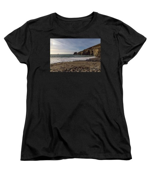 Women's T-Shirt (Standard Cut) featuring the photograph Trevellas Cove Cornwall by Brian Roscorla