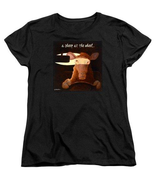 A Sheep At The Wheel... Women's T-Shirt (Standard Cut)