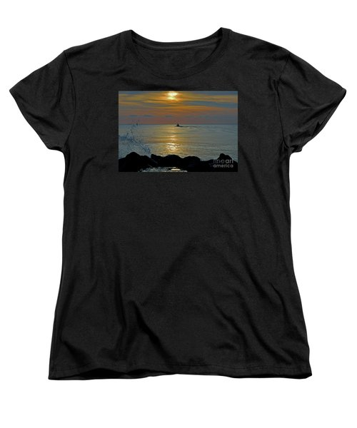 Women's T-Shirt (Standard Cut) featuring the photograph 4- Into The Day by Joseph Keane