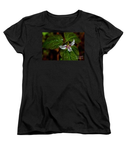 Women's T-Shirt (Standard Cut) featuring the photograph Painted Trillium  by Thomas R Fletcher