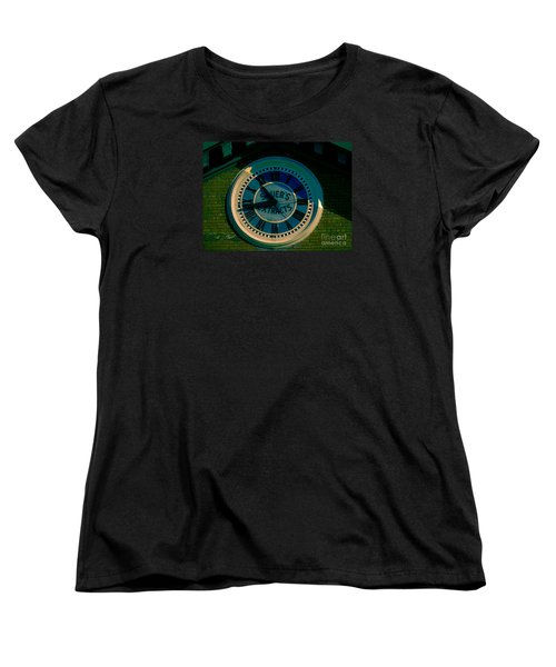 Women's T-Shirt (Standard Cut) featuring the photograph Sauer Clock by Melissa Messick