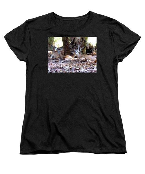 4 Wild Deer Women's T-Shirt (Standard Cut) by Rosalie Scanlon