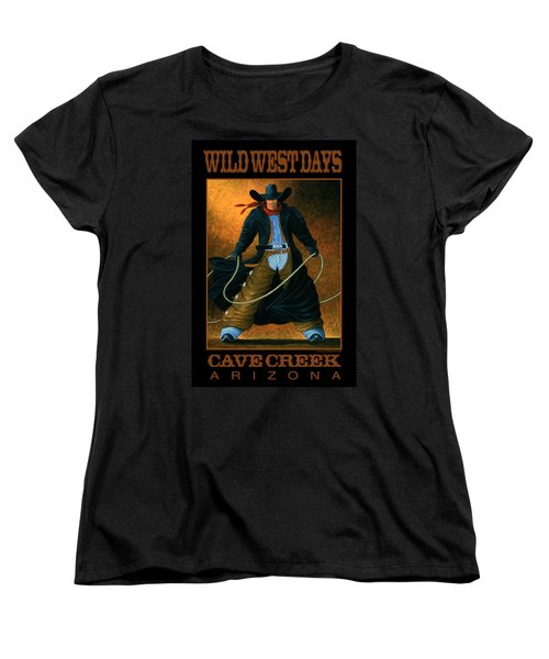 Wild West Days Poster/print  Women's T-Shirt (Standard Cut) by Lance Headlee