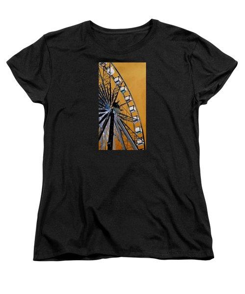 Women's T-Shirt (Standard Cut) featuring the photograph Ferris Wheel Impressions by Werner Lehmann