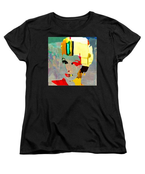 Women's T-Shirt (Standard Cut) featuring the mixed media Lucille Ball by Marvin Blaine