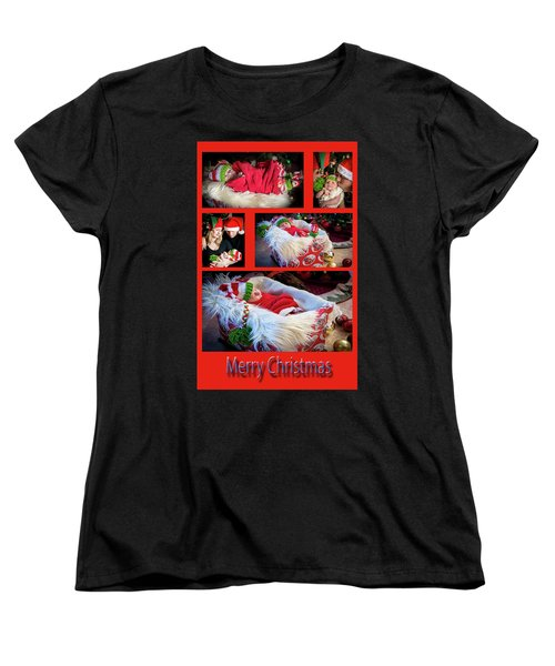 Merry Christmas Women's T-Shirt (Standard Cut) by Ivete Basso Photography