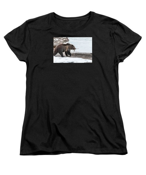 Women's T-Shirt (Standard Cut) featuring the photograph #760 At The River In Early Spring by Yeates Photography