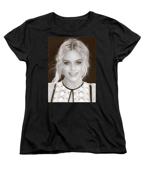 Actress Margot Robbie Women's T-Shirt (Standard Cut) by Best Actors