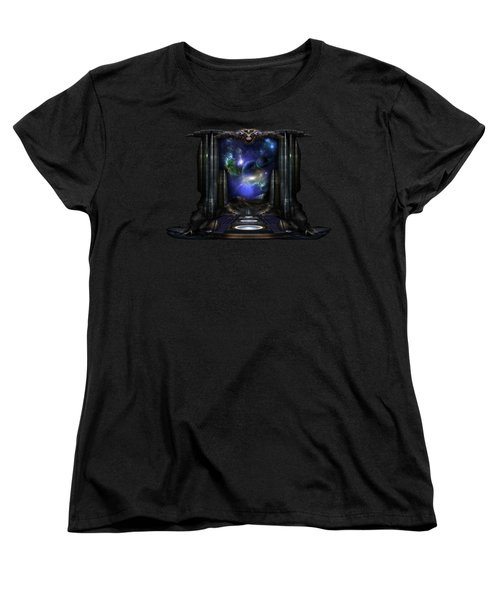 89-123-a9p2 Arsairian 7 Reporting Fractal Composition Women's T-Shirt (Standard Cut) by Xzendor7