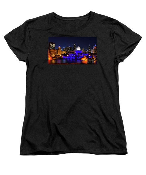 911 Tribute At Buckingham Fountain, Chicago Women's T-Shirt (Standard Cut) by Zawhaus Photography
