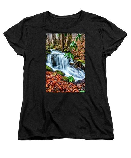 Women's T-Shirt (Standard Cut) featuring the photograph Little Laurel Branch by Thomas R Fletcher