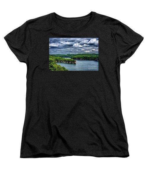 Long Point Summersville Lake Women's T-Shirt (Standard Cut) by Thomas R Fletcher