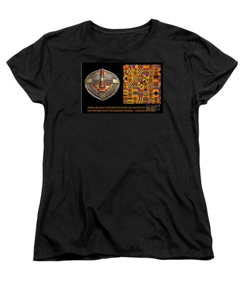 A  African Proverb Women's T-Shirt (Standard Cut) by Jacqueline Lloyd