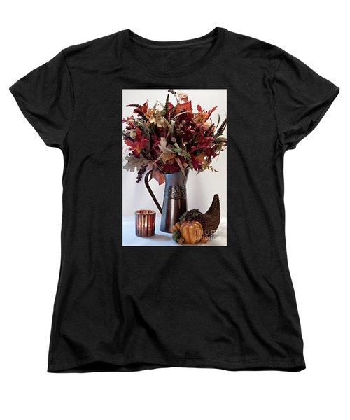 A Autumn Day Women's T-Shirt (Standard Cut) by Sherry Hallemeier