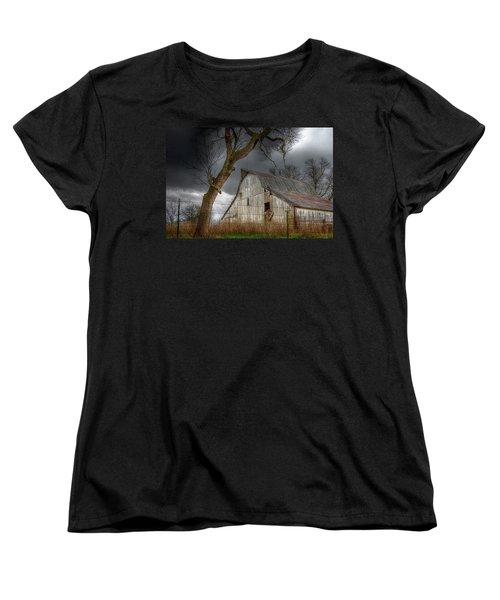 A Barn In The Storm 2 Women's T-Shirt (Standard Cut) by Karen McKenzie McAdoo