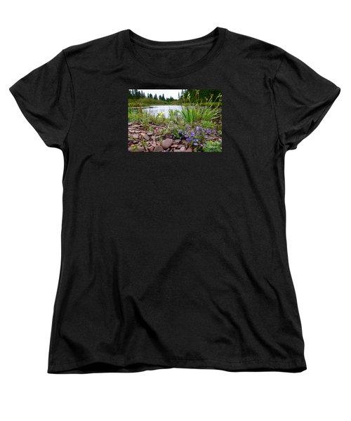 Women's T-Shirt (Standard Cut) featuring the photograph A Beautiful Rainy Day by Sandra Updyke