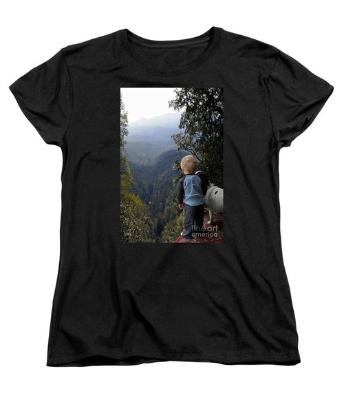 A Boy And His Dog Women's T-Shirt (Standard Cut) by Robert Meanor