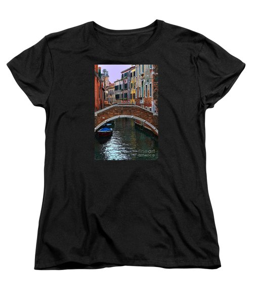A Canal In Venice Women's T-Shirt (Standard Cut) by Tom Prendergast