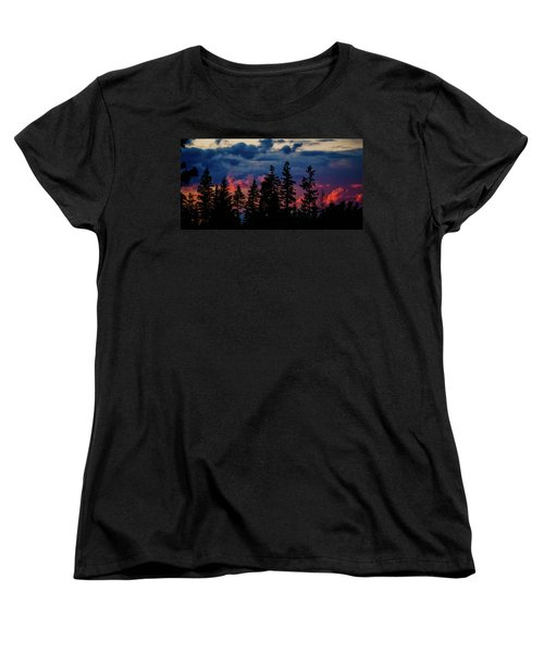 Women's T-Shirt (Standard Cut) featuring the photograph A Chance Of Thundershowers by Albert Seger