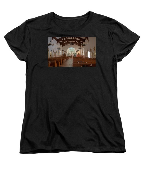 Women's T-Shirt (Standard Cut) featuring the photograph A Church Is Really Never Empty by Monte Stevens