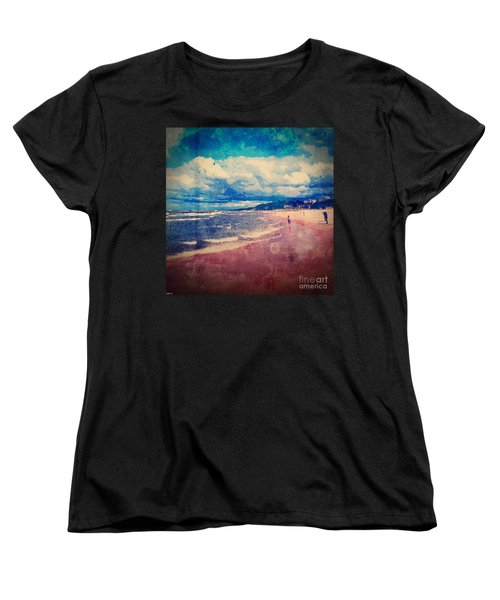 Women's T-Shirt (Standard Cut) featuring the photograph A Day At The Beach by Phil Perkins