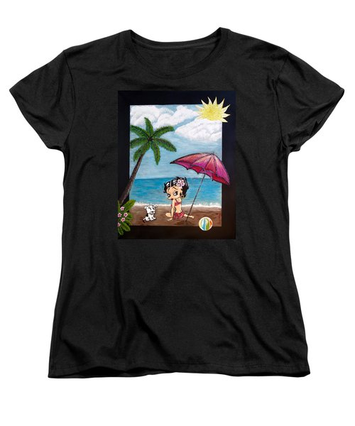 A Day At The Beach Women's T-Shirt (Standard Cut) by Teresa Wing
