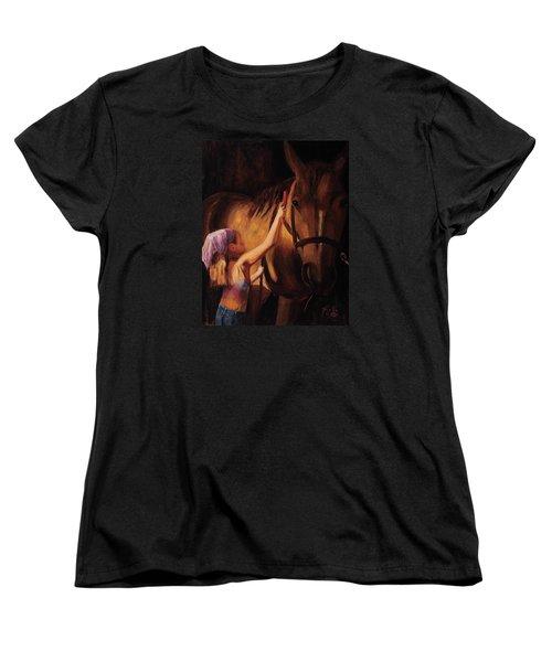 A Girls First Love Women's T-Shirt (Standard Cut) by Billie Colson