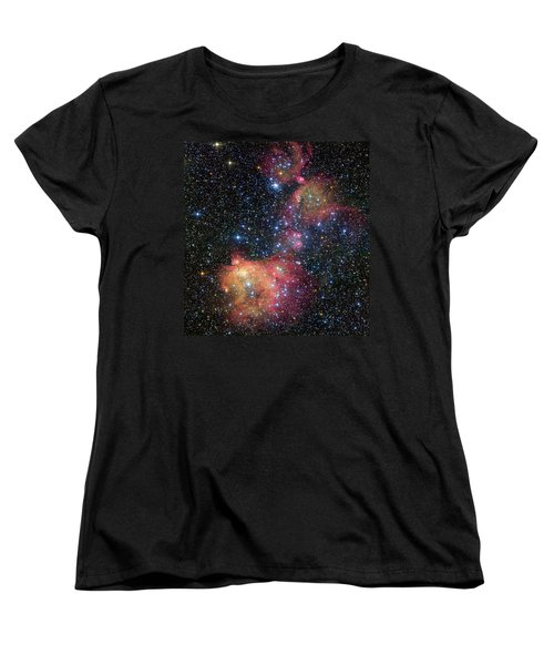 Women's T-Shirt (Standard Cut) featuring the photograph A Glowing Gas Cloud In The Large Magellanic Cloud by Eso
