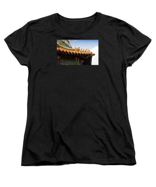 Women's T-Shirt (Standard Cut) featuring the photograph A Golden Parade by Rebecca Davis