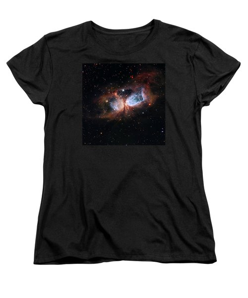 Women's T-Shirt (Standard Cut) featuring the photograph A Composite Image Of The Swan by Nasa