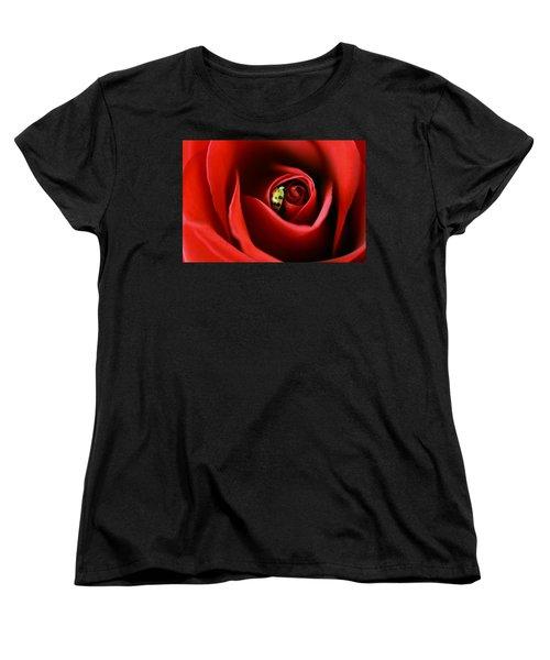 A Lady's Love Women's T-Shirt (Standard Cut) by The Art Of Marilyn Ridoutt-Greene